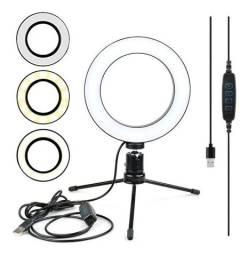 Ring Light De Mesa Profissional Com Tripe 6 Polegadas Controle e Ajuste - Loja Natan Abreu