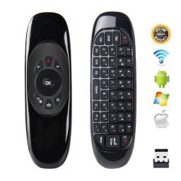 Mini Teclado Air Mouse Sem Fio Usb 2,4ghz Android Pc Tv Mac