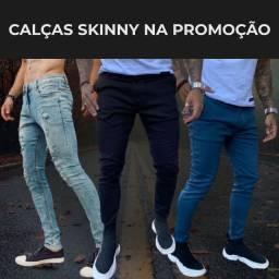 Kit 3 Calças Jeans Skinny Masculina na Promoção