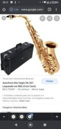 Saxofone Alto Eagle SA 501. Dourado