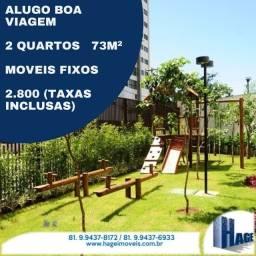 Boa Viagem/2 Quartos/ 72m² /Varanda /área de lazer