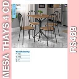 Mesa de jantar Thays 4 cadeiras mesa de jantar Thays 4 cadeiras 08543790
