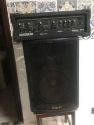 Conjunto Amplificador Wattsom e Caixa