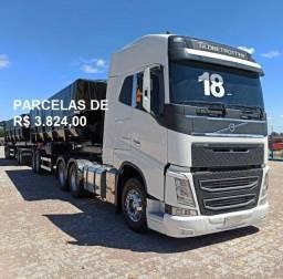 Título do anúncio: Volvo FH 540 6x4 2018 com carreta Rodocaçamba e contrato de serviço(Anápolis)