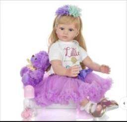 Título do anúncio: Boneca bebê reborn NPK Dool Loira 60cm