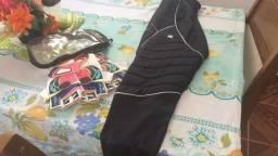 Futebol calça de goleiro com luvas