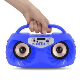 Título do anúncio: Caixa de Som Amplificada Bluetooth Portátil Mp3 Rádio Fm Usb Microfone - Azul