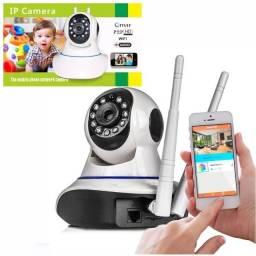 Título do anúncio: Câmera Wifi IP Acesso Remoto Sem Limite de Distância via Internet