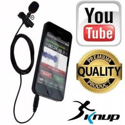 Microfone De Lapela Para Gravação De Vídeo PC KP-911 Knup