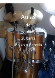 Aulas de violão, teclado, guitarra