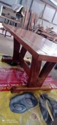 Título do anúncio: Mesa em madeira nobre nova, 12x cartão