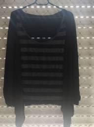 blusinha básica transpassada