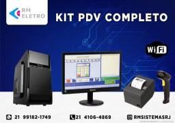 Título do anúncio: Kit Computador s/gav PDV Automação Comercial Sistema caixa NFCe Danfe 10x Sem Juros