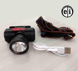 Lanterna de Cabeça Recarregável Usb LT-8512