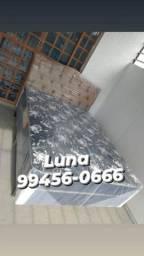 Título do anúncio: Cama cama cama casal mola bonnel ganhe dois travesseiros+Frete grátis