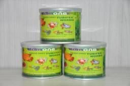 Alimento para peixes e tartarugas tubifex worms