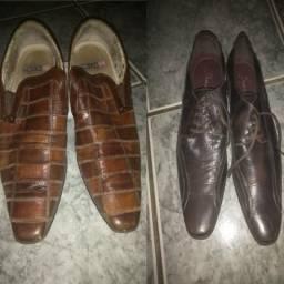 Sapatos social masculino democrata e Ferracini