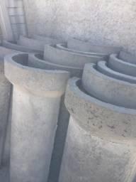Tubos para poço e canaletas de concreto