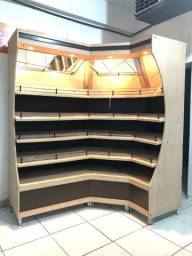 Expositor de madeira, Auto serviço
