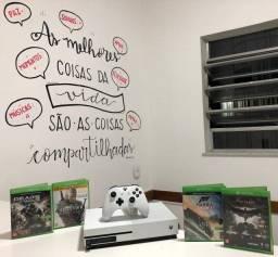 Xbox one S 1TB seminovo com jogos - Loja fisica no centro de Niterói