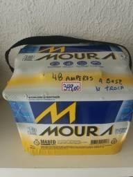 Bateria Moura 48 amperes a base de troca Entrega grátis