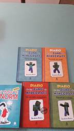 4 livros Diário de um zumbi do minecraft +1