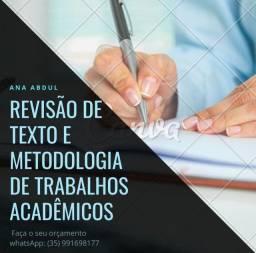 Revisão ortográfica e metodológica de trabalhos acadêmicos