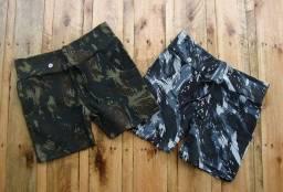 Shorts Ribana camuflada