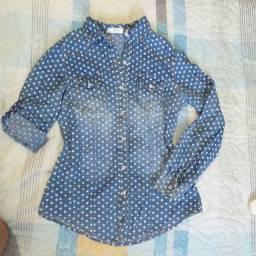 Jeans blusa/jaqueta