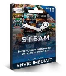 Gift card steam 10 reais