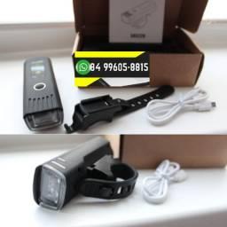 ®Farol Bike Bicicleta Recarregável Luz Sensor