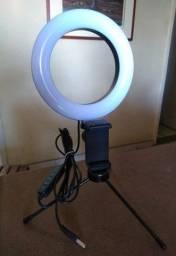 Tripe Ring Light Usb 16cm com suporte