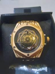 Relógio Hoblot sang Bleu Dourado