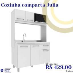 Preço e qualidade. E na Oliveira móveis cozinha compacta apartir de 489.00