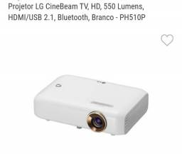 Título do anúncio: Projetor LG CineBeam TV, HD, 550 Lumens, HDMI, Bluetooth, USB.