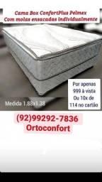 Título do anúncio: #CAMA CASAL PREMIUM MOLAS ENSACADAS+ESPUMA D33 CONFORT PLUS
