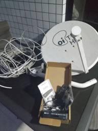 Kit Sky Pré-Pago com Antena, cabo e receptor
