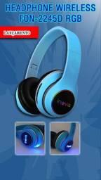 Headphone Wireless com Led RGB Fon-2245D Inova