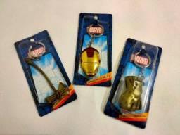 Chaveiros Marvel de Metal, de R$ 30,00 por R$ 25,00 (cada unidade)