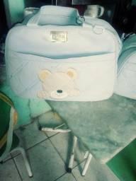 Título do anúncio: vendo conjunto de bolsa para bebê