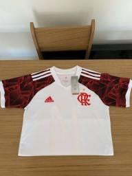 Título do anúncio: Camisa Flamengo II 21/22 s/n° Torcedor Adidas Masculina - Branco+Vermelho