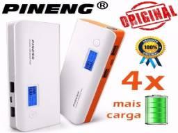 Bateria Externa Power Bank Pineng 10000mah Lanterna Novo - Entrega Grátis