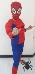 Fantasia Homem Aranha Infantil Com Máscara(tambem trabalhamos com aluguel
