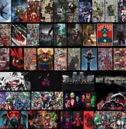 Quadros decorativos Dc e Marvel R$15,00