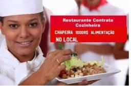 Contrata se cozinheira chapeira