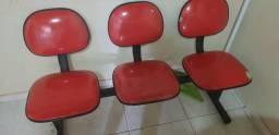 Cadeiras de espera 3 lugares