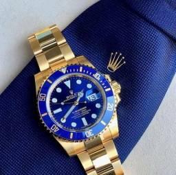 2c02cc4e75bab Relógio Rolex Sub. Automático Novo- Ouro Azul- Mica de Safira- Inoxidável