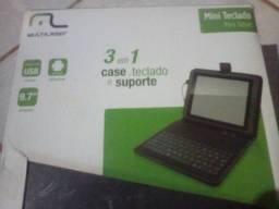 Teclado e capa para tablet