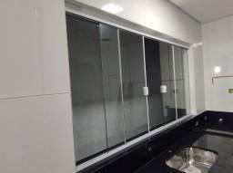 Título do anúncio: Janela 2x1 vidro temperado incolor de 8 mm