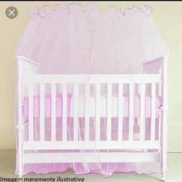Mosqueteiro / cortinado rosa semi novo